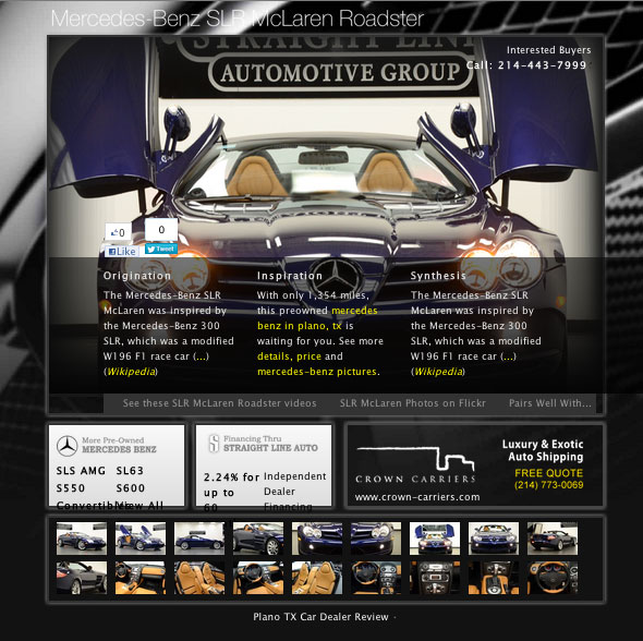 Exotic cars in dallas tx mercedes benz for Mercedes benz of plano plano tx